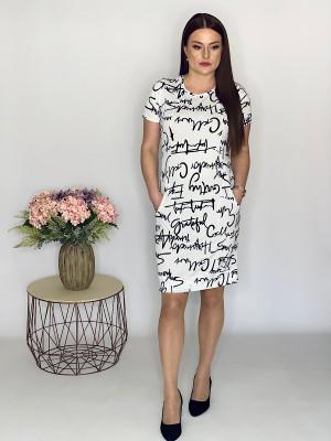 Šaty s písmenovou potlačou biele 94/3A