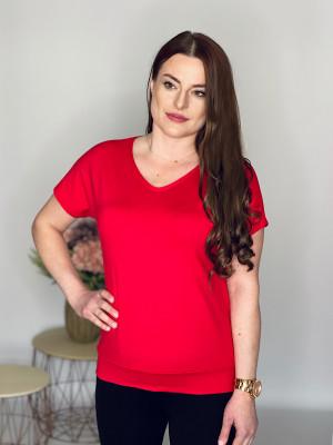 Tričko  jednofarebné červené 102/6H