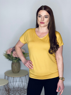 Tričko  jednofarebné žlté 102/6G