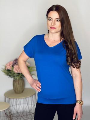 Tričko  jednofarebné modré 102/6F