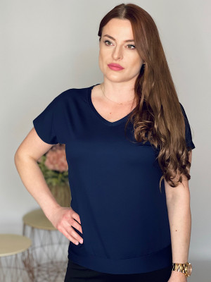 Tričko  jednofarebné tmavo modré 102/6C