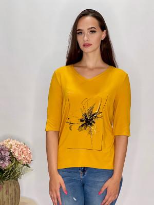 Tričko  žlté s aplikáciou  95/9ND1