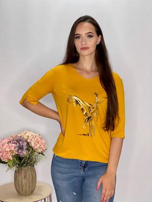 Tričko  žlté s aplikáciou  95/9ND