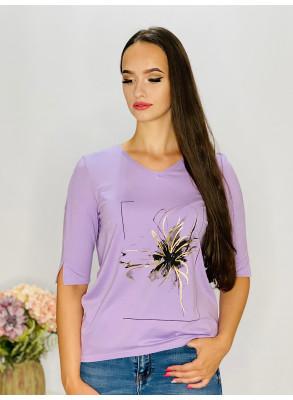Tričko  lila s aplikáciou  95/9NE1