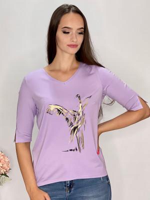 Tričko  lila s aplikáciou  95/9NE