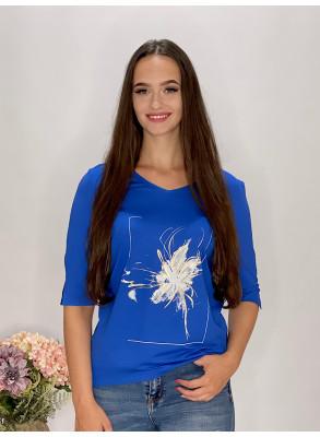 Tričko kráľovsky modré s aplikáciou  95/9NC1