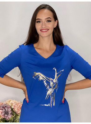 Tričko kráľovsky modré s aplikáciou  95/9NC